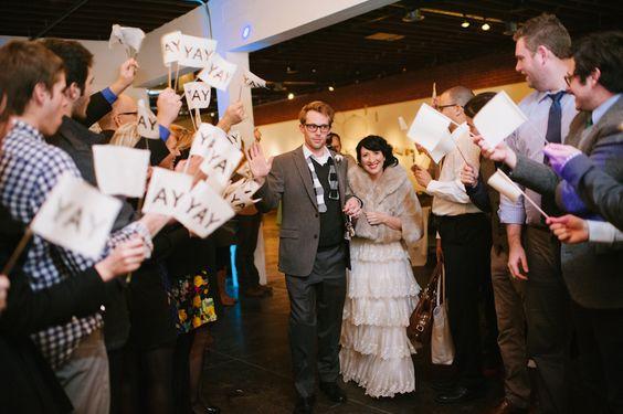 "Waving little flags that say: ""YAY"" :)  Megan & Bryan's wedding day! (Winter wedding, OKC) » candi coffman photography"