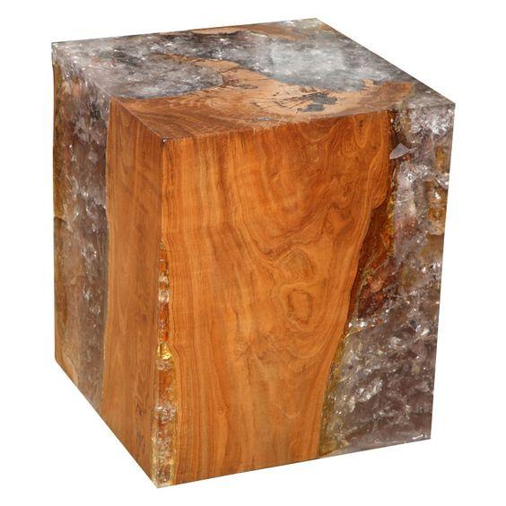 wood u0026amp resin cube table 2375 cubes furniture
