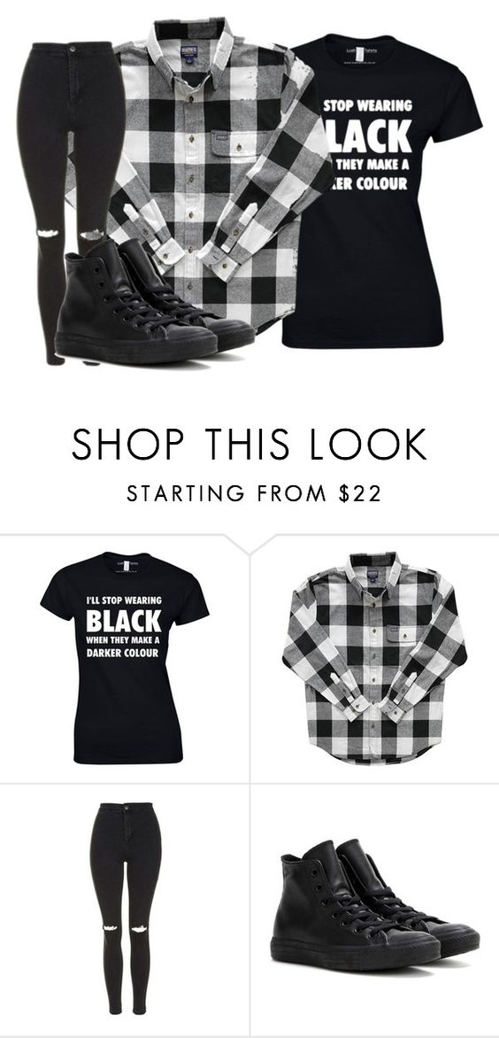 """""""Untitled #815"""" by akwardlyimperfect1d ❤ liked on Polyvore featuring Topshop and Converse"""