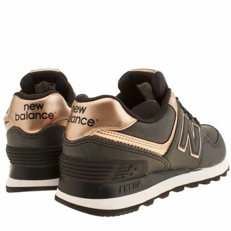 new balance 574 trainers gold