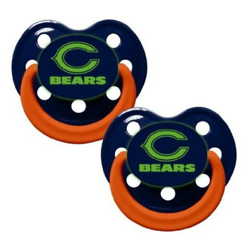 Chicago Bears Glow In The Dark Baby Pacifiers - Pack Of 2