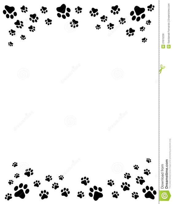 Cat And Free Dog Clip Art Borders Paw Prints Border Royalty Free Stock ...