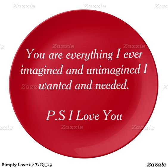 Simply Love Porcelain Plate
