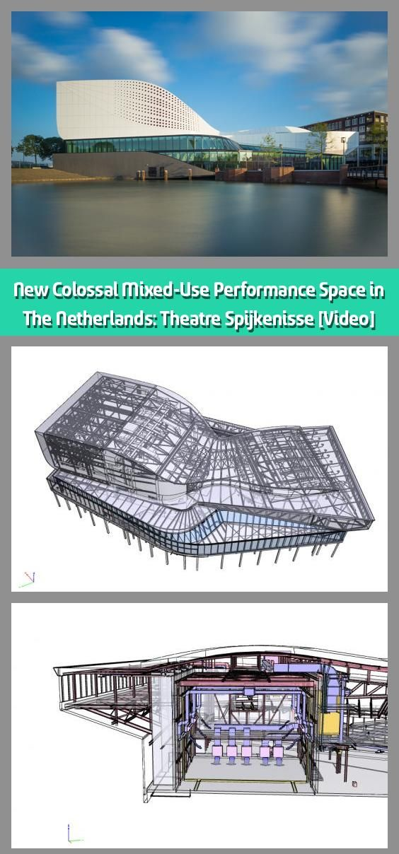 New Colossal Mixed Use Performance Space In The Netherlands Theatre Spijkenisse Video The Close Collab In 2020 Contemporary Building Building Design Netherlands