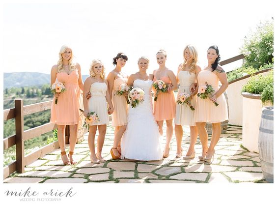 Serendipity Garden Oak Glen Wedding - Mike Arick Photography-77...i like these bridesmaid dresses