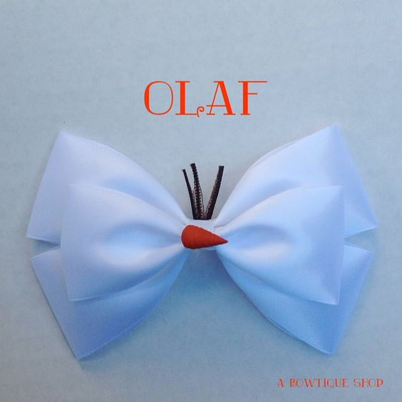 olaf bow by abowtiqueshop on Etsy, $6.50  olaf olaf bow frozen #rozen party disney bow disneybows disneybound hair