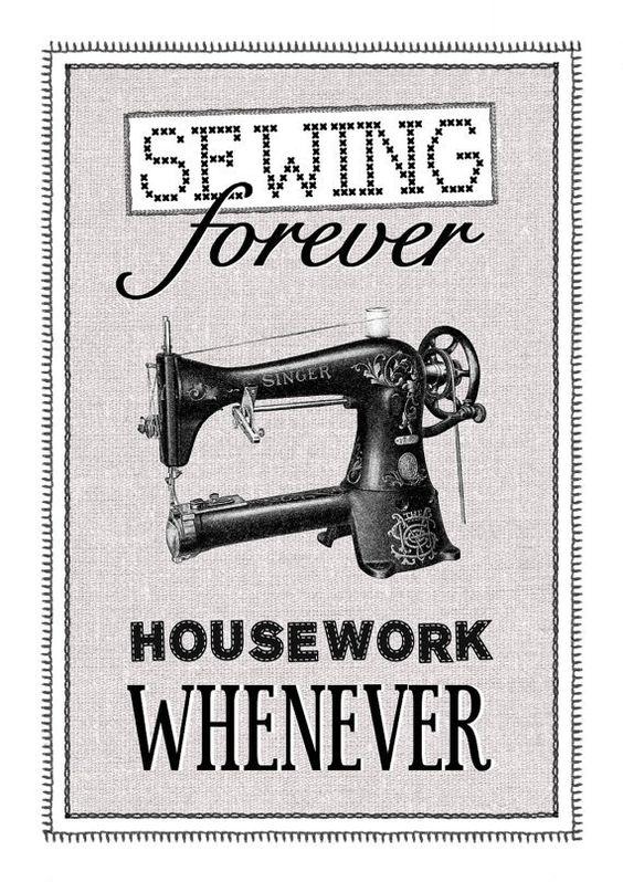 Vintage Sewing Machine Print