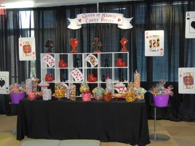 Queen of hearts candy buffet
