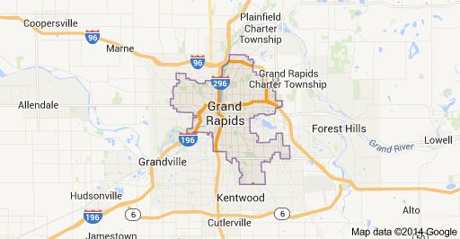 City of Grand Rapids MI Map Neighborhoods in Grand Rapids MI