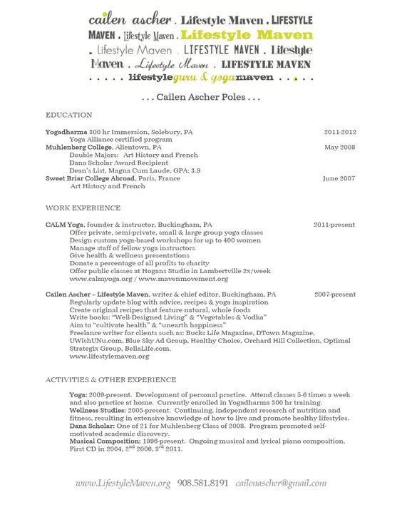My (non-living) Resume! My Living Resume Pinterest - film producer resume