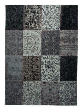 Tapis classique tapis noir vintage saint maclou deco - Tapis vintage saint maclou ...