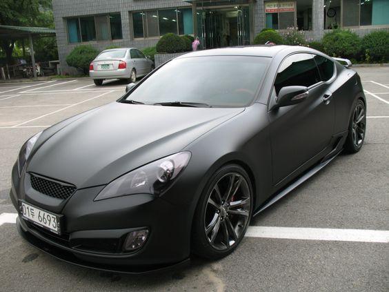 matt black Genesis Coupe