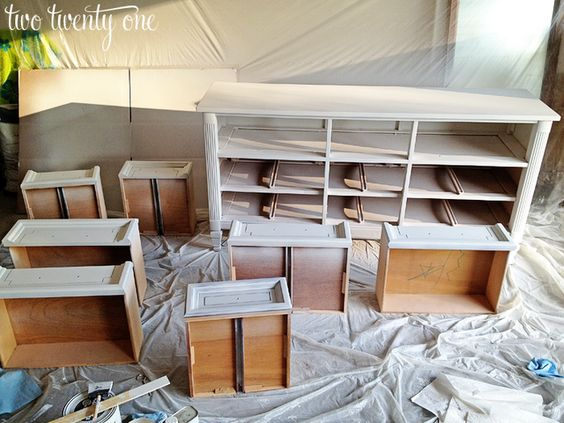 How to Turn a Dresser Into a TV Stand {DIY} - Two Twenty One She gives great detailed instructions.  Think this maybe the solution I need before I put the large cabinet back in the Den.~Lady Bren