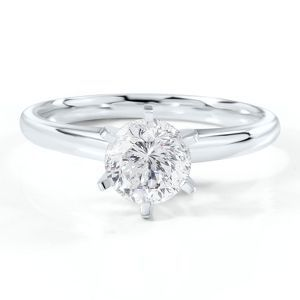 Radiant Star 1 1/4ct Round Diamond Solitaire Engagement Ring