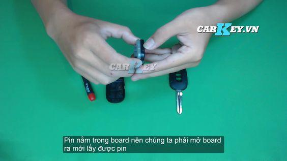 Hướng dẫn thay pin chìa khóa ô tô Chevrolet Captiva - Carkey.vn