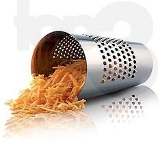 upside down grater cup, keeps carrot under control and you don't lose juice from apples or ginger $70