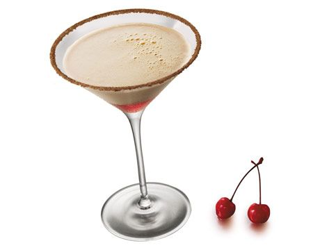Baileys Cherry Cafe  2 oz. Baileys with a Hint of Coffee  1/2 oz. Captain Morgan Rum  1 dash maraschino cherry juice    Rim a martini glass with cinnamon and sugar. Then drizzle cherry juice in the glass to layer. Shake Baileys and Captain Morgan with ice, strain, and enjoy.