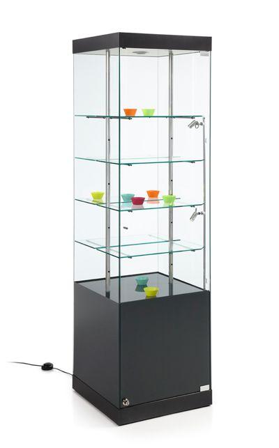 Vislum vitrina expositora martina 50x50x180 mueble - Empanelados de madera ...