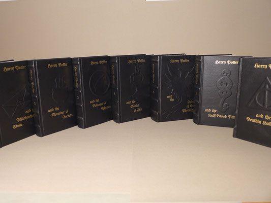 Harry Potter English Edition 1 7 Annabuchwunder Die Handbuchbinderei Fur Unikate Feuerkelch Kammer Des Schreckens Orden Des Phoenix