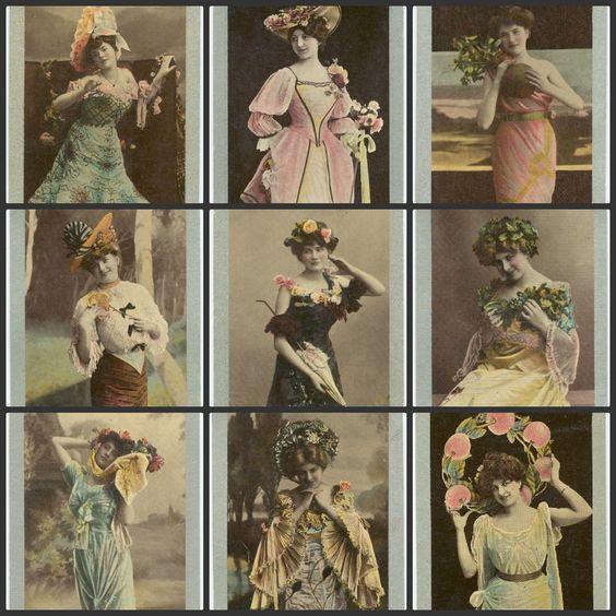 36 Vintage Beauty Images Instant Digital Download by joapan