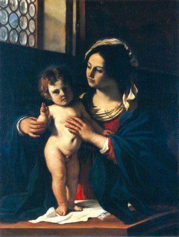 Madonna col Bambino benedicente, o/t, 134 x 103 cm, 1629 Pinacoteca Civica di Cento