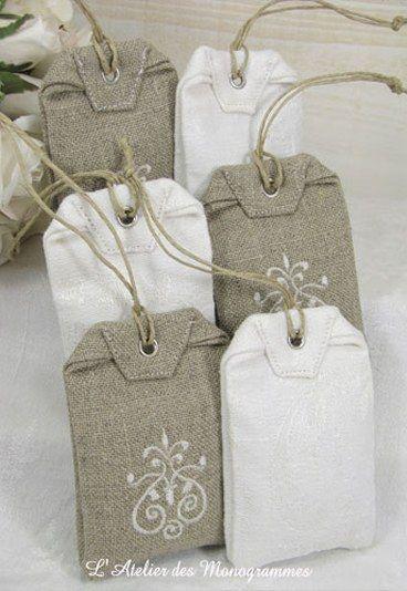 Sachets lavande - parfumer le linge - sachet d'armoire - Remerciements mariage : cadeaux invités mariage, cadeau invités