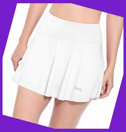 BALEAF Womens Athletic Golf Skirt Tennis Skort Pleated with Pockets White  Size S   Womens Go#Skirts in 2020   Ladies golf clothes, Golf outfits women,  Golf skirts