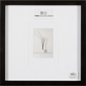 walmart burnes level line black 12x12 wall frame matted to one 5x7 or