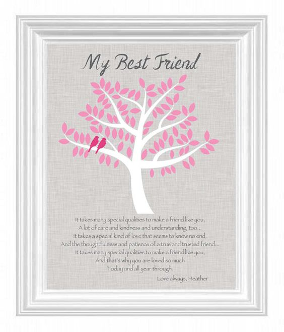 Good Wedding Gifts For Best Friend: Personalized Gift For A Special Friend