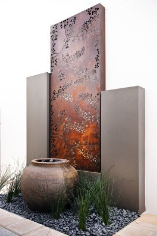 Wattle metal laser cut screens outdoor screens wall for Large outdoor privacy screen