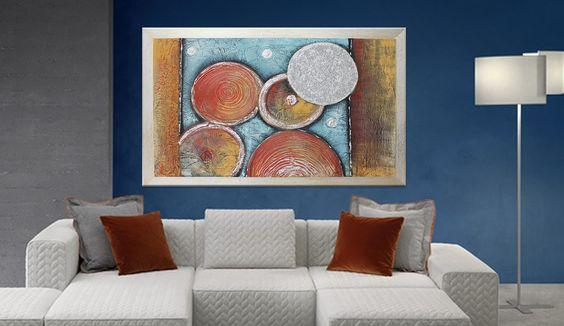 quadri astratti materici dipinti su tela. Quadri moderni realizzati ...