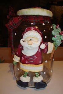 vidro para doces e biscoitos,trabalhado em biscuit