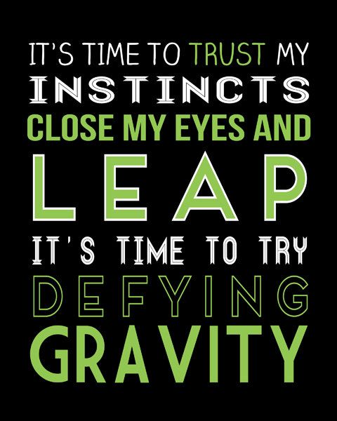 Defying Gravity is actually a really great song. One day I'm going to go see Wicked.