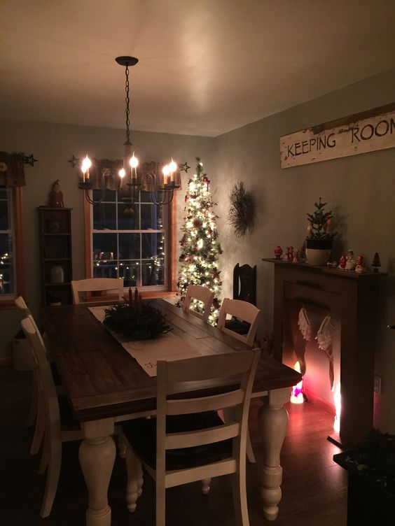 Our new dining room in our new home