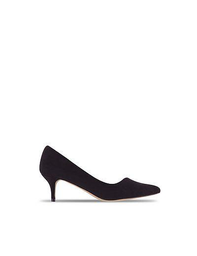 SuiteBlanco- Zapato tacón antelina.  23€