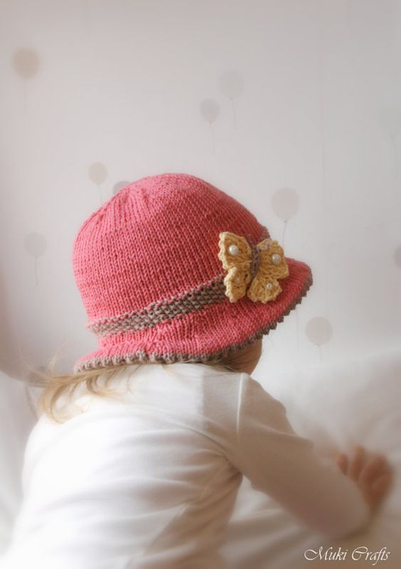 Knitting Pattern For Baby Sun Hat : Baby & toddler, Sun hats and Knitting patterns on Pinterest