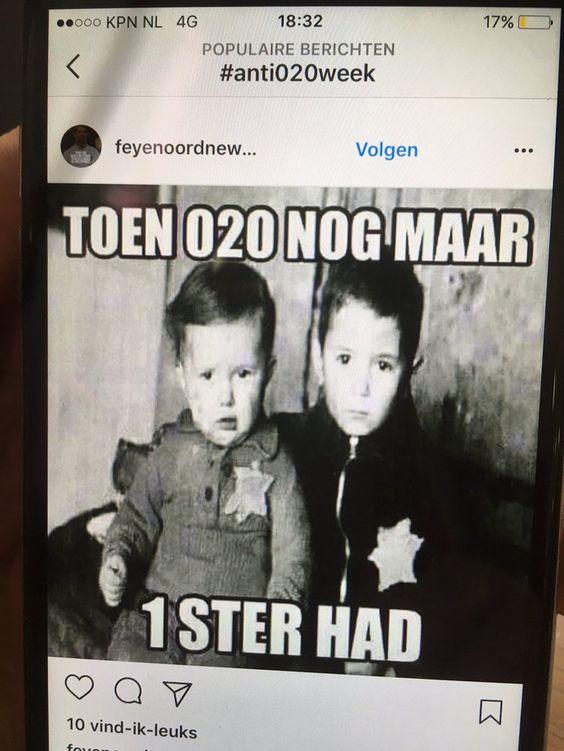 'Walgelijke' anti-Ajaxfoto wekt woede | Binnenland | AD.nl