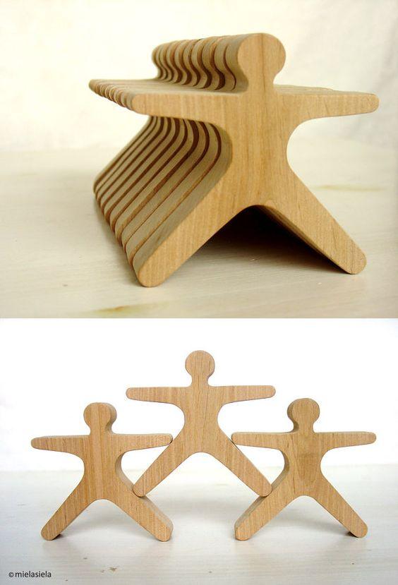 Balancing game - Wooden balancing toy - Balance and stacking toy - Balancing puzzle - Creative game - Desk game - Acrobats