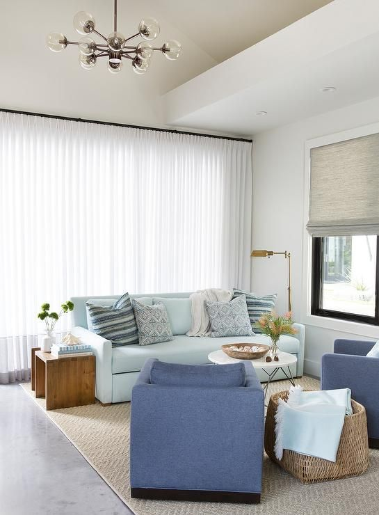 Pale Blue Sofa Blue Curtains Living Room Living Room Window Treatments Living Room