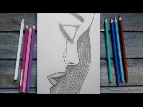 رسم سهل رسم فتاة حزينة تبكي كيفية رسم وجه فتاة حزينة تعليم الرسم How To Draw A Girl Face Youtube Beauty Person Personal Care
