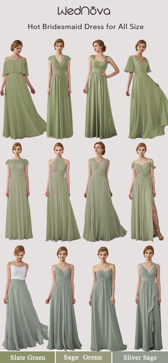 Sage Chiffon Long Bridesmaid Dresses Sage Green Bridesmaid Dress Mismatched Bridesmaid Dresses Sage Bridesmaid Dresses