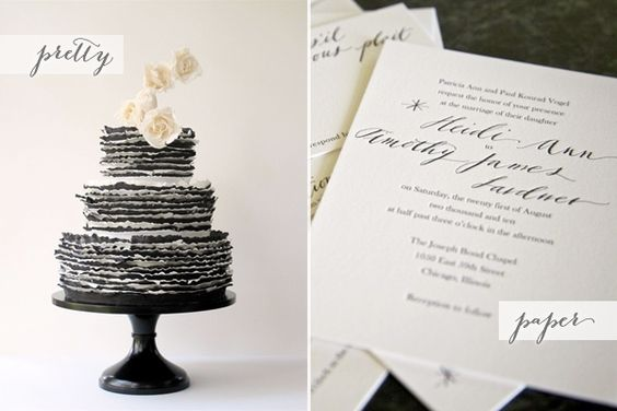 What could be better than Cake and Paper? | Oh So Beautiful Paper via The Bridal Style