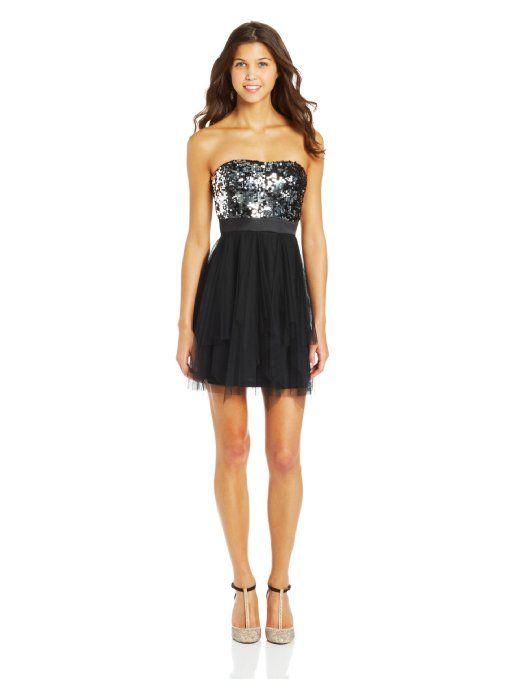 Amazon.com: Hailey Logan by Adrianna Papell Juniors 2 Way Sequin Corkscrew Dress: Clothing