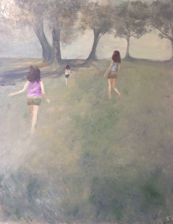 At Bill Wakeman Reserve. Oil on canvas approx 60x45cm