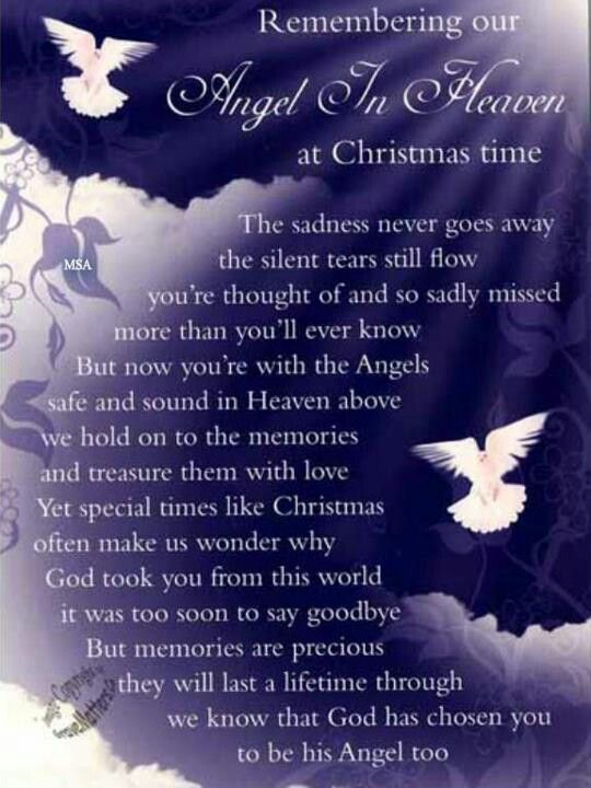 Missing My Husband At Christmas Quotes: Details About Christmas Grave Card Angel In Heaven FREE