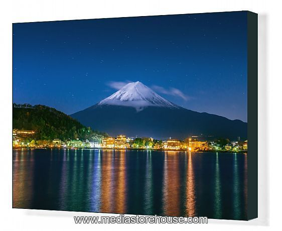Print Of Mt Fuji At Night Kawaguchiko Japan In 2020 Japan Japan Image Photo Wall Art