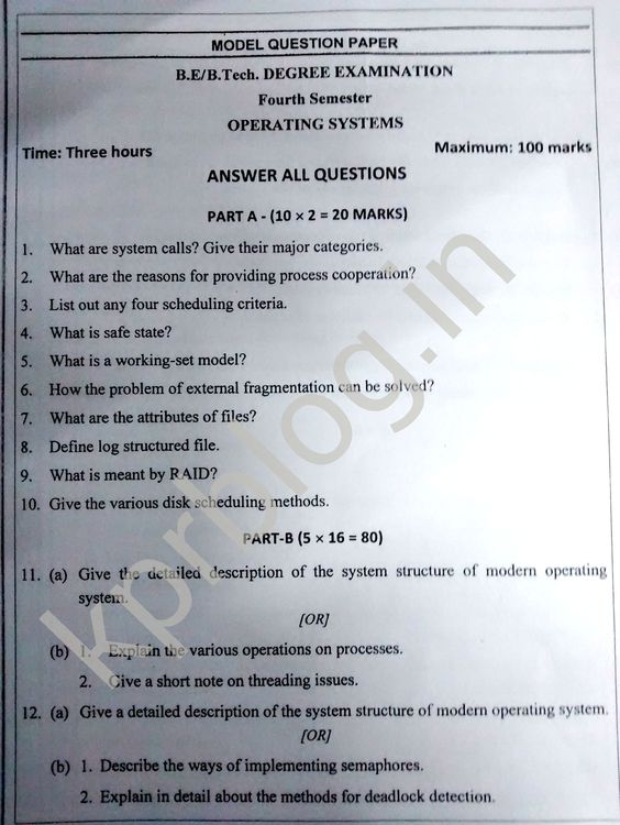 Paper for operating systems