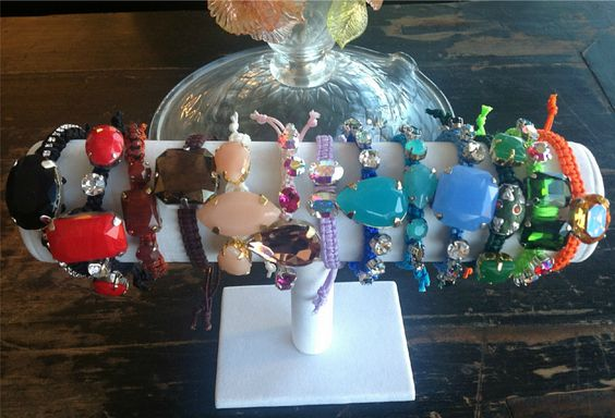 Stack em up!  Lux bohemian jewels in a rainbow of colors from Le Trend Bijoux   www.letrendbijoux.etsy.com  www.facebook.com/letrendbijoux