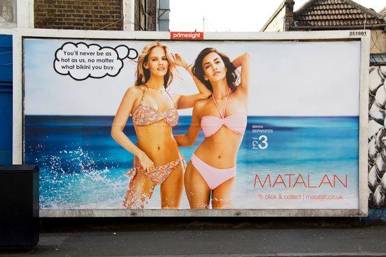 Die Streetart des Tages kommt von Mobstr | Modified Bikini Advert | Atomlabor Blog | Dein Lifestyle Blog aus Wuppertal