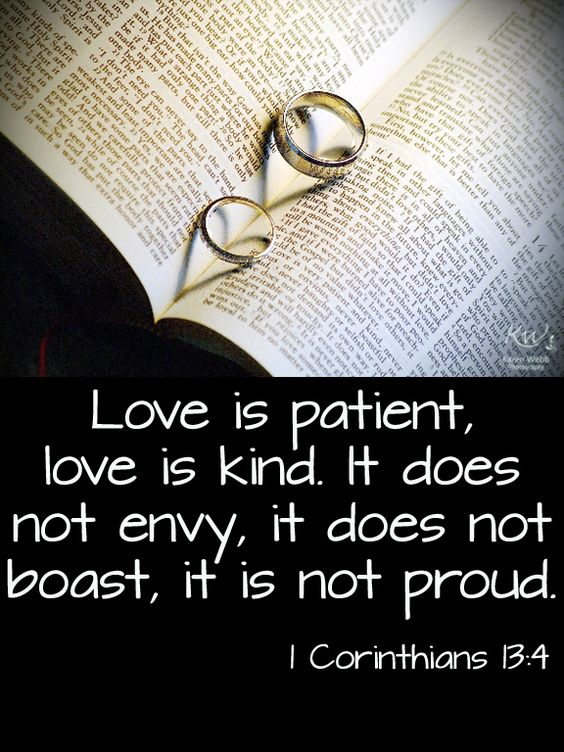 It Does Not Envy Love Is Patient